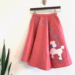 Dresses & Skirts - Vintage Pink Felt 50s Style Poodle Skirt